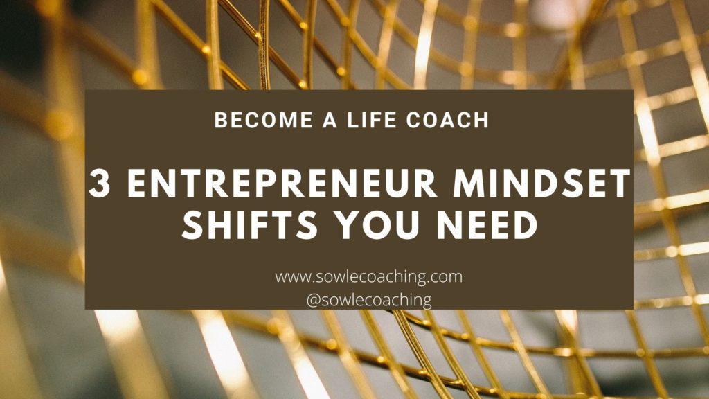 Entrepreneur mindset for life coach