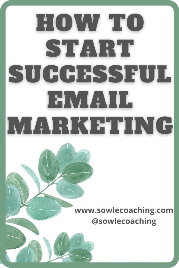 Start email marketing