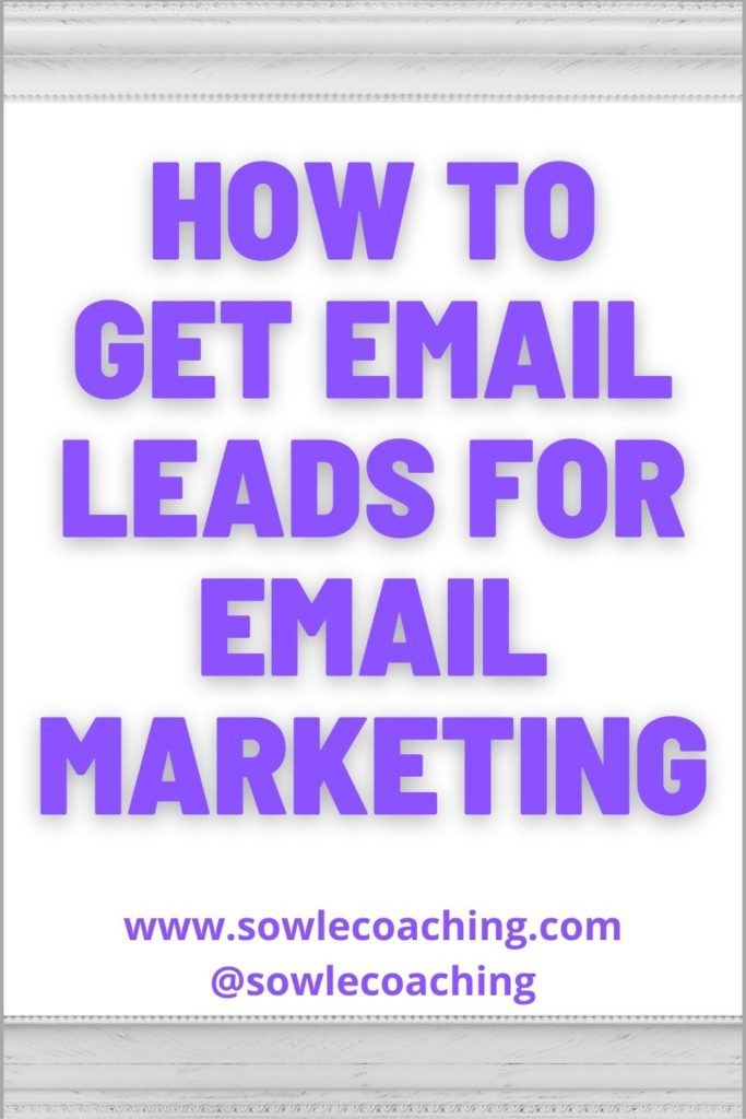 Email lead generation for email marketing