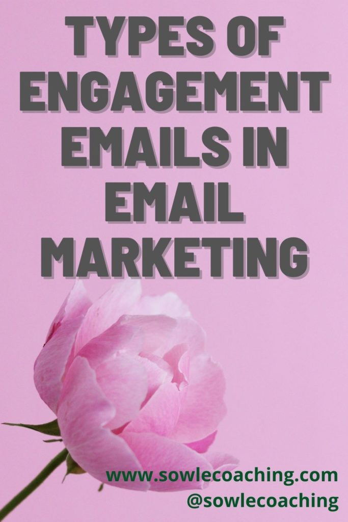 Engagement emails in email marketing